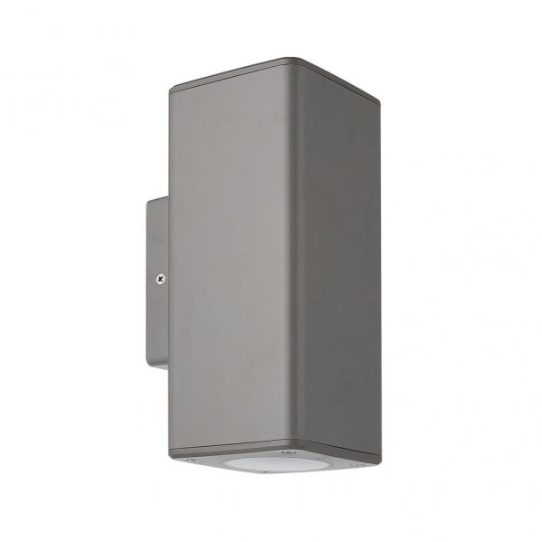 aplique exterior yopol 2xgu10 gris policarbonato 18 6x7 6x9 9 ip54 - Todolampara - Aplique Exterior Yopol 2xgu10 Gris Policarbonato 18,6x7,6x9,9 Ip54