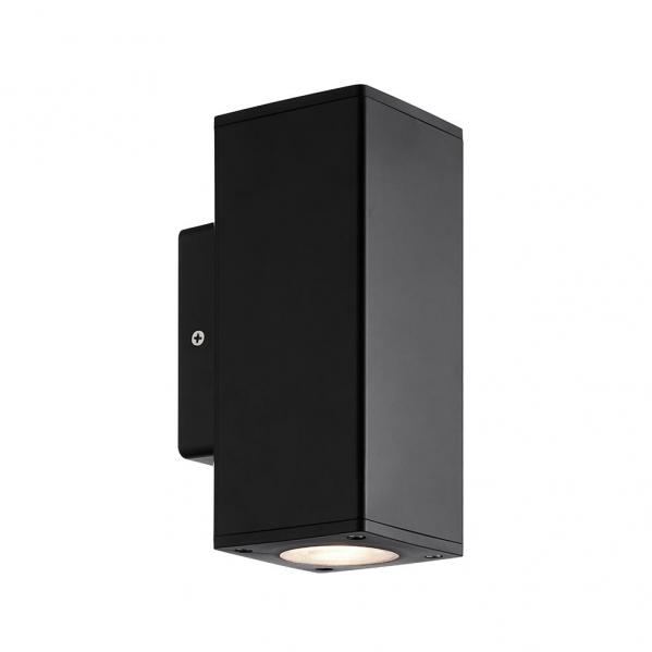 aplique exterior yopol 2xgu10 negro policarbonato 18 6x7 6x9 9 ip54 - Todolampara - Aplique Exterior Yopol 2xgu10 Negro Policarbonato 18,6x7,6x9,9 Ip54