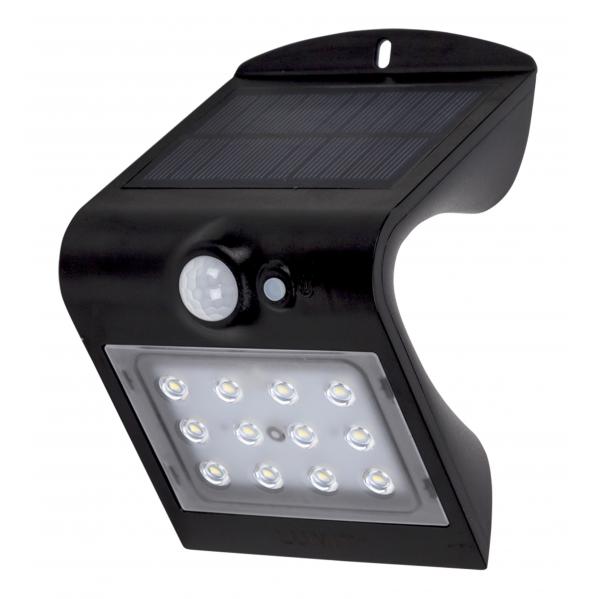 aplique solar 1 5w 4000k 6000k solaris negro 220lm ip65 carga solar sensor movil y luminic - Todolampara - Aplique Solar 1,5w 4000k+6000k Solaris Negro 220lm Ip65 Carga Solar Sensor Movil Y Luminic