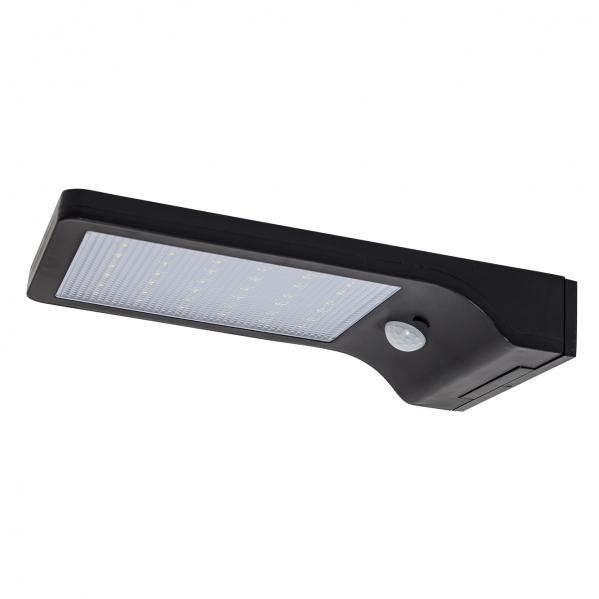 aplique solar 5w 6000k negro sensor movimiento 3m alcance 120o 2 9x10 8x19 1 ip65 - Todolampara - Aplique Solar 8w 6000k Negro Sensor Movimiento 3m Alcance 120º 19x11x3 Ip65