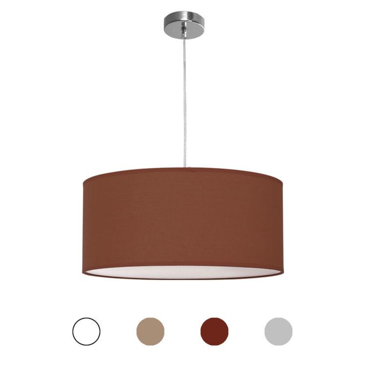 lampara colgante nicole de 50 centimetros en varios colores de tela