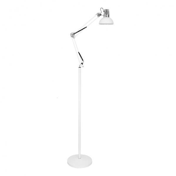 flexo de pie 185cm antigona articulable 1xe27 blanco cromo 142 - Todolampara - Flexo De Pie 185cm Antigona Articulable 1xe27 Blanco/cromo 142-192x28d
