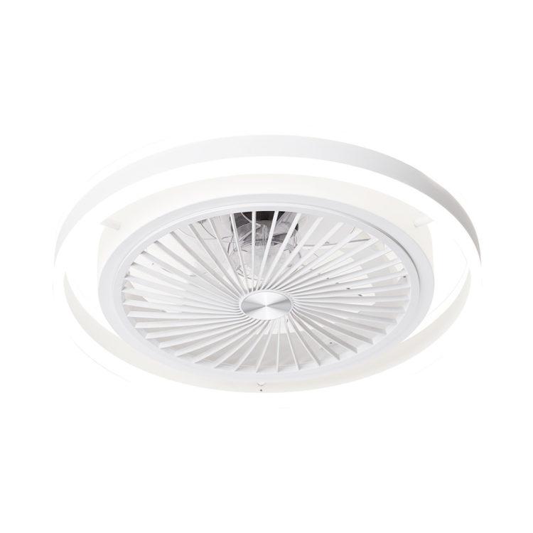 lampara compacta con ventilador de aspas invisibles y luz led regulable