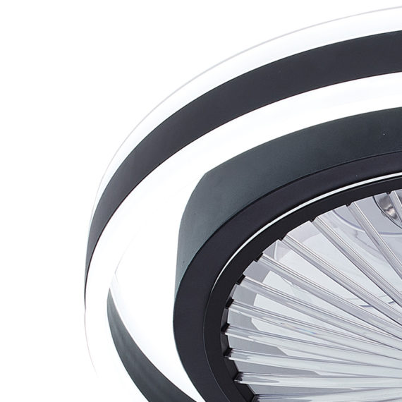 lampara de luz regulable led con ventilador