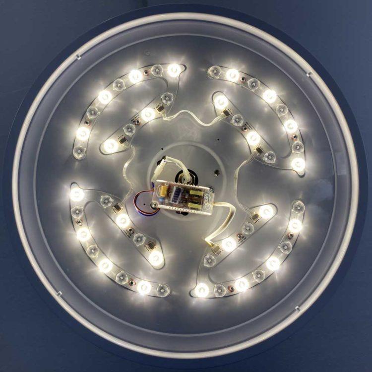 luz led de ventilador de techo