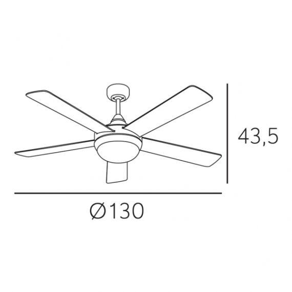 ventilador biruji 2xe27 blanco 5 aspas 3 velocidad 43 5x130x130cm control remoto 1 - Todolampara - Ventilador Biruji 2xe27 Blanco 5 Aspas 3 Velocidad 43,5x130x130cm Control Remoto