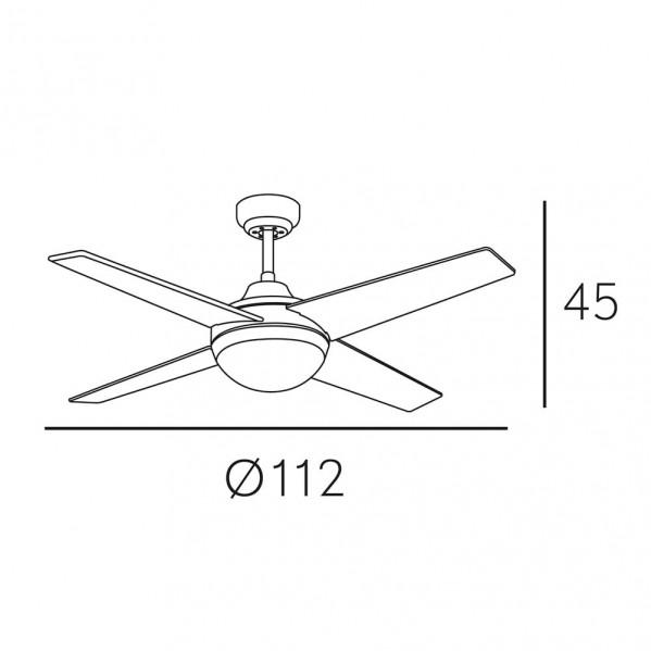 ventilador dc niquel eolo 4 asp rev haya wengue 2xe27 45x112x112 cm 6 veloc c remoto 1 - Todolampara - Ventilador Dc Niquel Eolo 4 Asp. Rev. Haya/wengue 2xe27 45x112x112 Cm 6 Veloc. C/remoto
