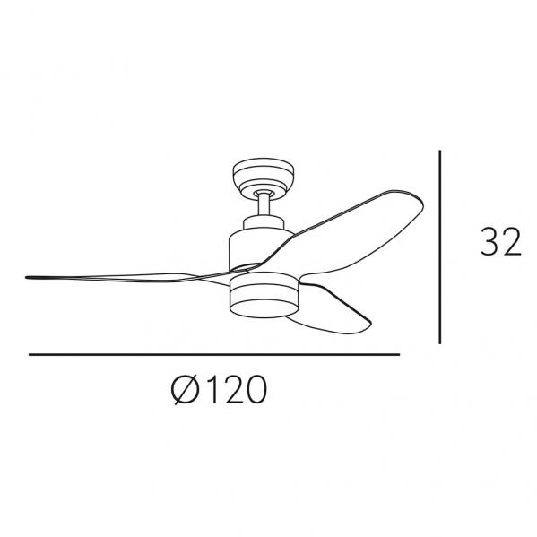 ventilador gerona 18w 2350lm niquel haya 3 asp 32x120x120cm 3000 4000 6000k c remoto 2 - Todolampara - Ventilador Gerona 18w 2350lm Niquel/haya 3 Asp 32x120x120cm 3000-4000-6000k C/remoto