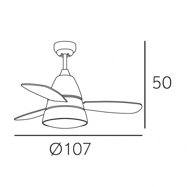 ventilador iseran cromo 2xe27 3 aspas metacrilato acido 33 5x107d c remoto 1 - Todolampara - Ventilador Iseran Cromo 2xe27 3 Aspas Metacrilato Acido 33.5x107d C.remoto