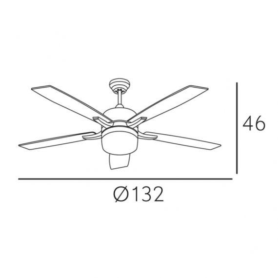 ventilador niquel menfis 5 aspas plata haya 2xe27 46x132d control remoto 1 - Todolampara - Ventilador Niquel Menfis 5 Aspas Plata/haya 2xe27 46x132d Control Remoto