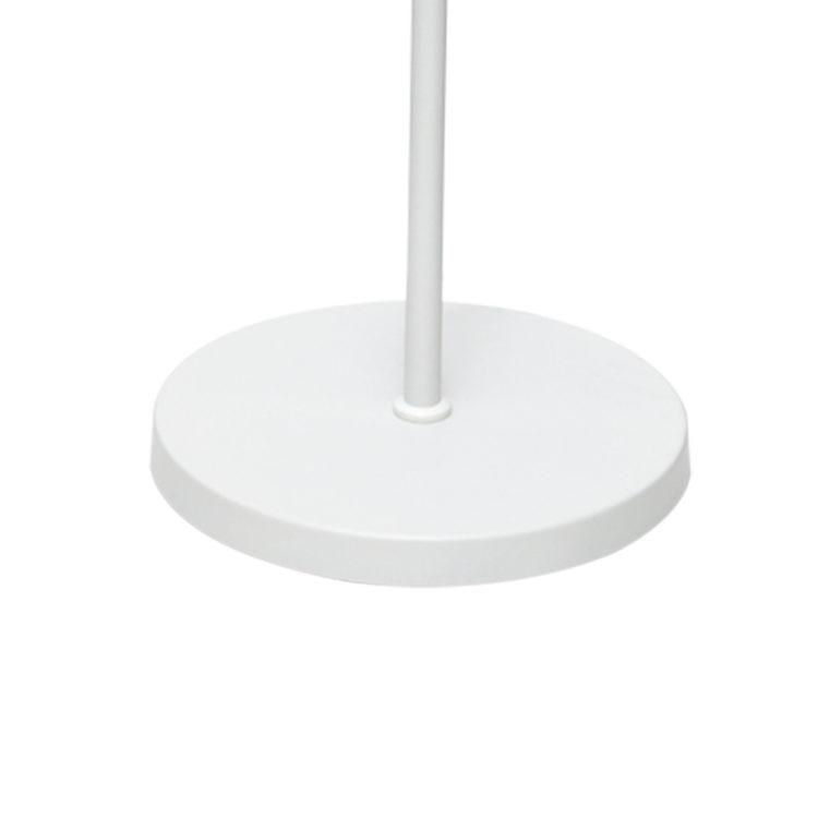 base lampara de pie blanca