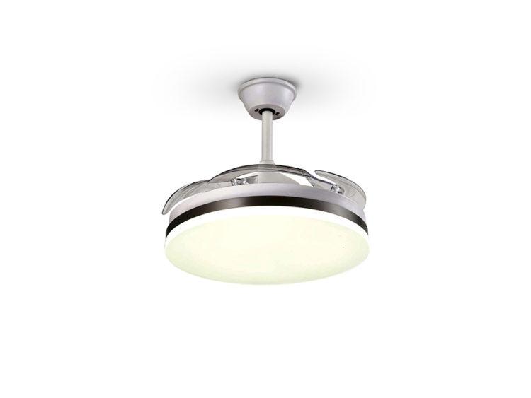 lampara ventilador aspas retractiles