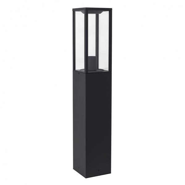 pilar grand nozelo 1xe27 gris oscuro ip44 80cm - Todolampara - Pilar Grande 80cm Nozelo 1xE27 Gris Oscuro