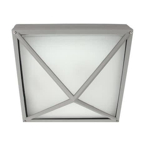 plafon exterior salvia zinc 2xe27 30x30 1 - Todolampara - Plafon Exterior Salvia Zinc 2xe27 (30x30)