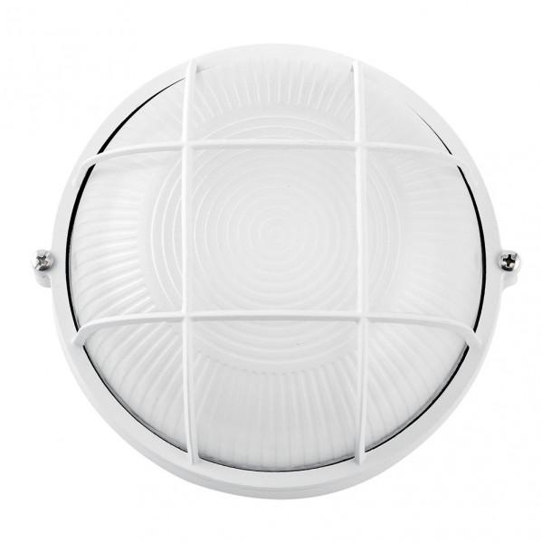 aplique ext aluminio apus grand 1xe27 blanco ip44 25x25x11 cm - Todolampara - Aplique Exterior Aluminio APUS 1xE27 Blanco IP44 25cm