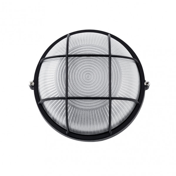 aplique ext aluminio apus pequeno 1xe27 negro 17 5x17 5x9 cm ip44 - Todolampara - Aplique Exterior Aluminio APUS 1xE27 Negro IP44 17,5cm