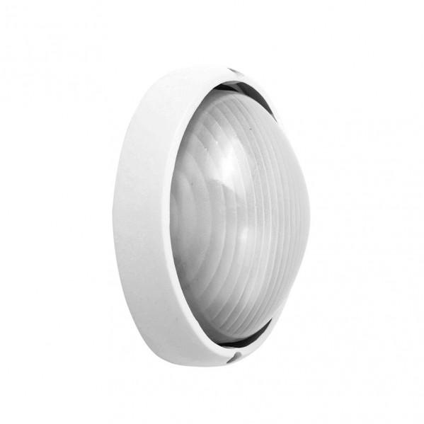 aplique ext aluminio vega peq 1xe27 blanco 22x14x10 cm ip44 - Todolampara - Aplique Ext. Aluminio Vega Peq.1xe27 Blanco 22x14x10 Cm Ip44