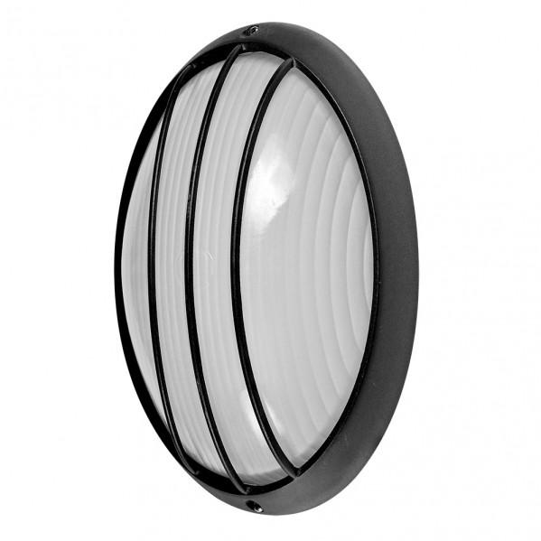 aplique ext oval aluminio aquila grand 1xe27 neg 32x20 5x11 cm ip44 - Todolampara - Aplique Ext.oval Aluminio Aquila Grand 1xe27 Neg 32x20,5x11 Cm Ip44