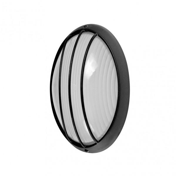 aplique ext oval aluminio aquila peq 1xe27 negro 22x14x10 5 cm ip44 - Todolampara - Aplique Ext.oval Aluminio Aquila Peq.1xe27 Negro 22x14x10,5 Cm Ip44