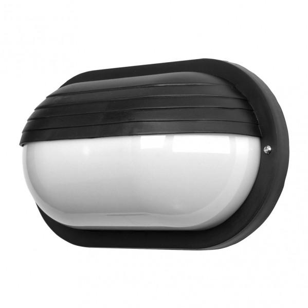 aplique ext oval canopus 1xe27 policarb negro ip44 26x15x10 cm - Todolampara - Aplique Ext.oval Canopus Grande1xe27 Policarb.negro Ip44 26x15x10 Cm