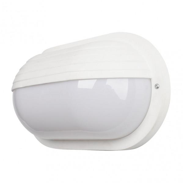 aplique ext oval canopus peq 1xe27 policar blanco 26x15x10 cm ip44 - Todolampara - Aplique Ext.oval Canopus Grande1xe27 Policar.blanco 26x15x10 Cm Ip44