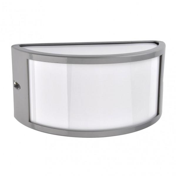 aplique exterior aluminio ara 1xe27 gris ip44 25x12x13 cm - Todolampara - Aplique Exterior Aluminio Ara 1xe27 Gris Ip44 25x12x13 Cm