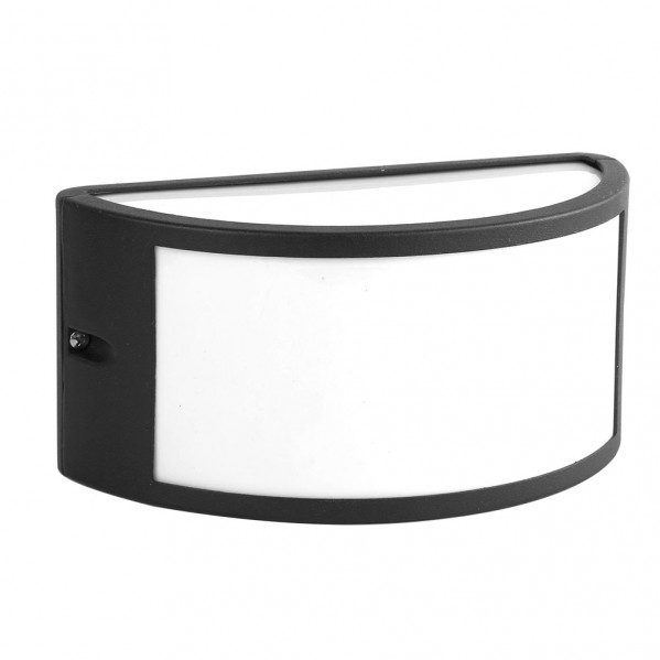 aplique exterior aluminio ara 1xe27 negro ip44 25x12x13 cm - Todolampara - Aplique Exterior Aluminio Ara 1xe27 Negro Ip44 25x12x13 Cm