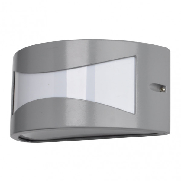 aplique exterior aluminio hadar 1xe27 gris ip44 25x12x13 cm - Todolampara - Aplique Exterior Aluminio Hadar 1xe27 Gris Ip44 25x12x13 Cm