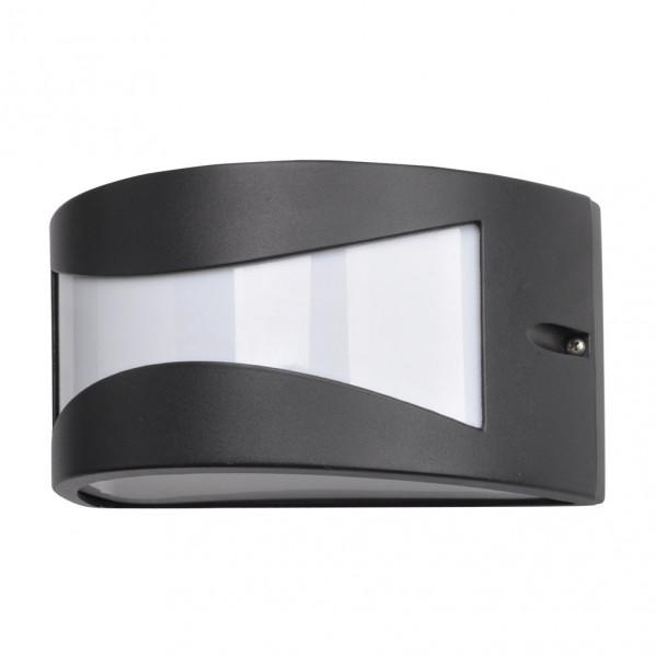 aplique exterior aluminio hadar 1xe27 negro ip44 25x12x13 cm - Todolampara - Aplique Exterior Aluminio Hadar 1xe27 Negro Ip44 25x12x13 Cm
