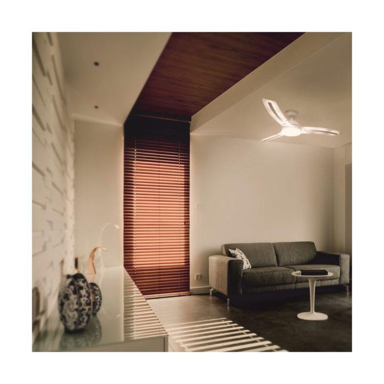 luz calida en ventilador