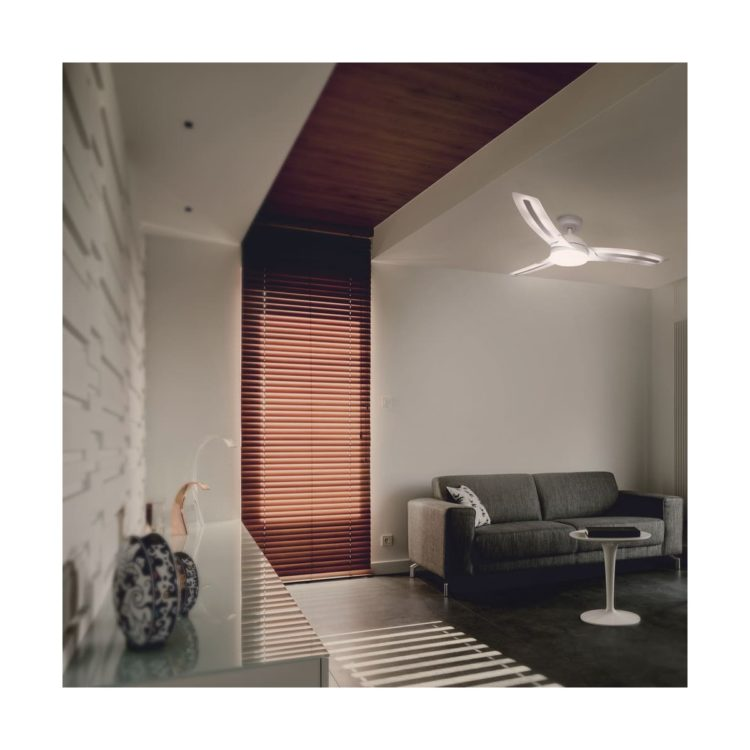 ventilador led con luz natural
