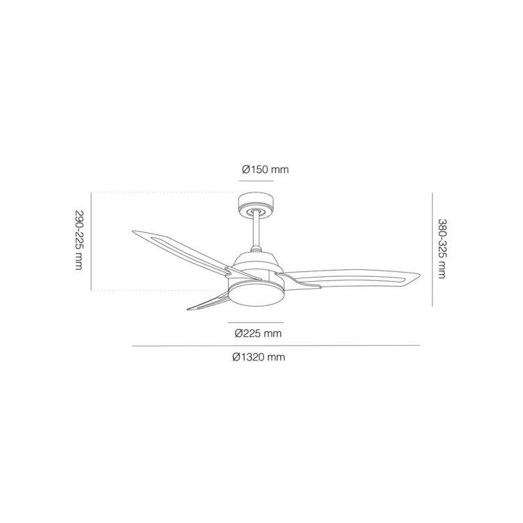 medidas ventilador lighter motor DC