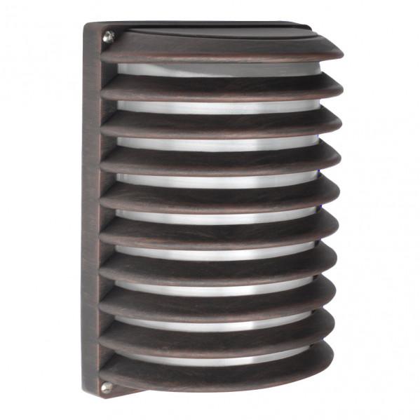 aplique ext aluminio achernar 1xe27 marron ip44 25 5x18x13 cm - Todolampara - Aplique Ext. Aluminio Achernar 1xe27 Marron Ip44 25,5x18x13 Cm