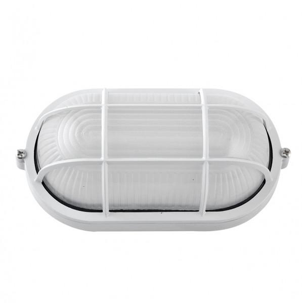 aplique ext oval aluminio apus grande 1xe27 blanco 27 5x15 5x11 5 cm ip44 - Todolampara - Aplique Ext.oval Aluminio Apus Grande 1xe27 Blanco 27,5x15,5x11,5 Cm Ip44