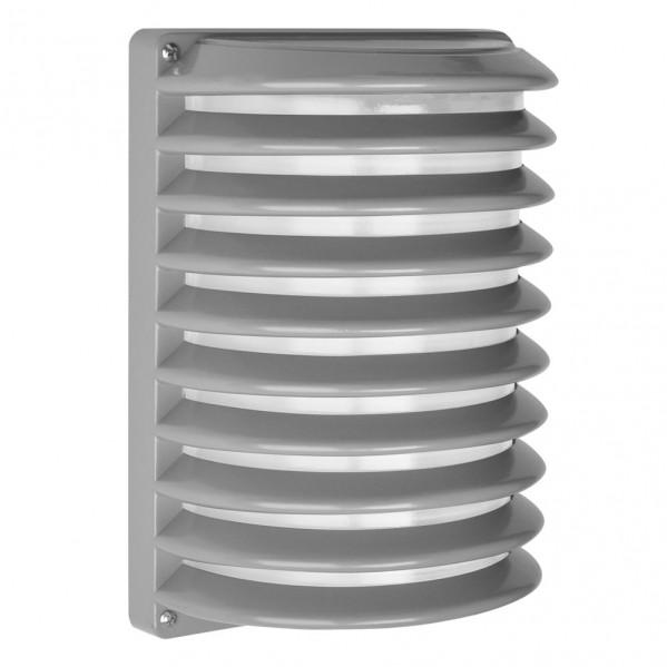 aplique exterior aluminio achernar 1xe27 gris ip44 25 5x18x13 cm - Todolampara - Aplique Exterior Aluminio Achernar 1xe27 Gris Ip44 25,5x18x13 Cm