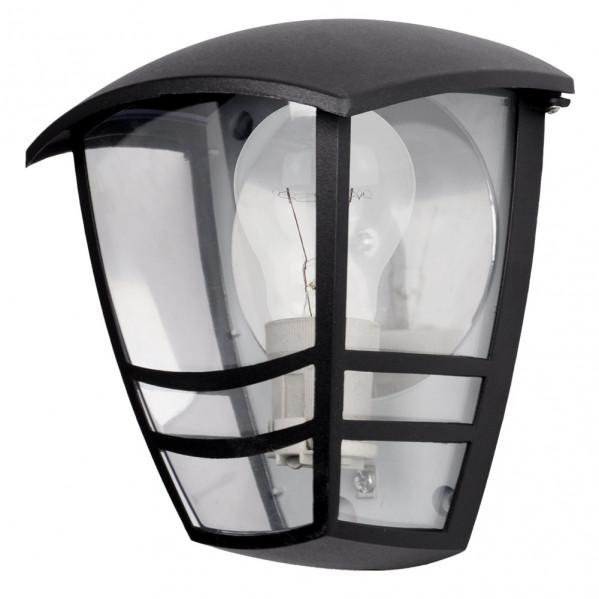 aplique exterior aluminio alnilan 1xe27 negro ip44 20x17 5x13 cm - Todolampara - Aplique Exterior Aluminio Alnilan 1xe27 Negro Ip44 20x17,5x13 Cm