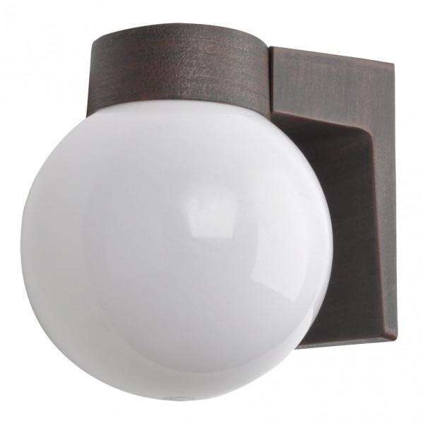 aplique exterior aluminio procyon 1xe27 marron 18x18x15 cm ip44 - Todolampara - Aplique Exterior Aluminio Procyon 1xe27 Marron 18x18x15 Cm Ip44