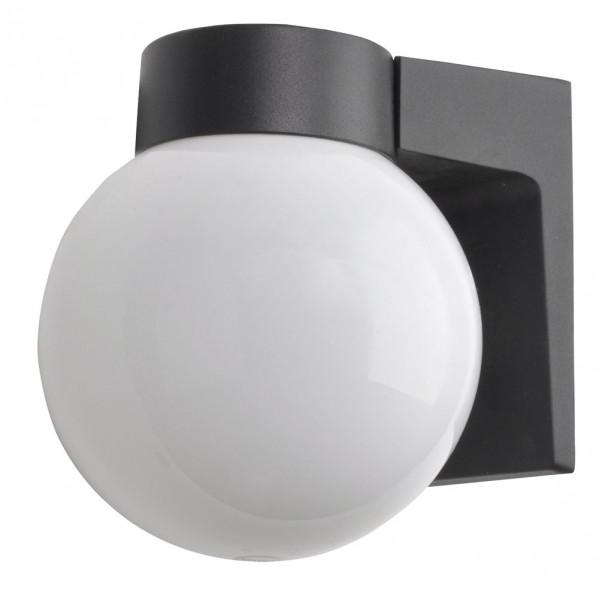 aplique exterior aluminio procyon 1xe27 negro 18x18x15 cm ip4 - Todolampara - Aplique Exterior Aluminio Procyon 1xe27 Negro 18x18x15 Cm Ip4