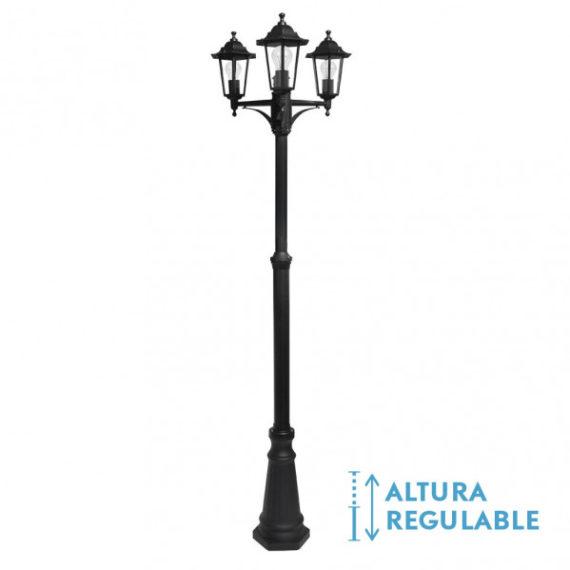 farola-exterior-aluminio-auriga-3xe27-negro-ip44-220x62x62-cm