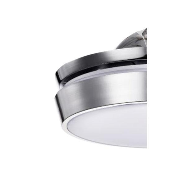 detalle difusor de luz led niquelado