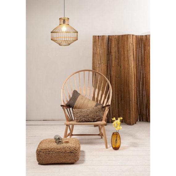 colgante bambu 1xe27 croton regx35x35 cm 1 - Todolampara - Colgante Bambu 1xe27 Croton Regx35x35 Cm